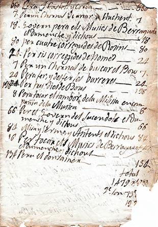 Document històric Banda de Bellreguard