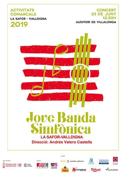 concierto de la Joven Banda Sinfónica de la comarca Safor-Valldigna de la FSMCV