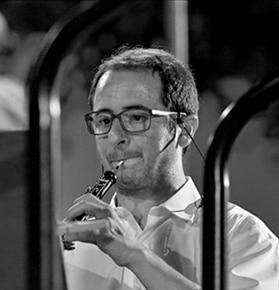 Foto professor oboe Banda Bellreguard, escuela de música