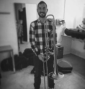 Pau Pericàs Herrera, Profesor Trombó Banda de Bellreguard, escuela de música